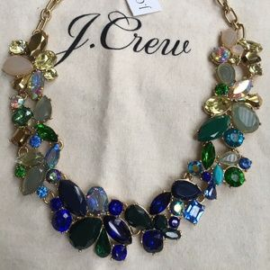 J.Crew Factory Crystal MIXED STONES NECKLACE